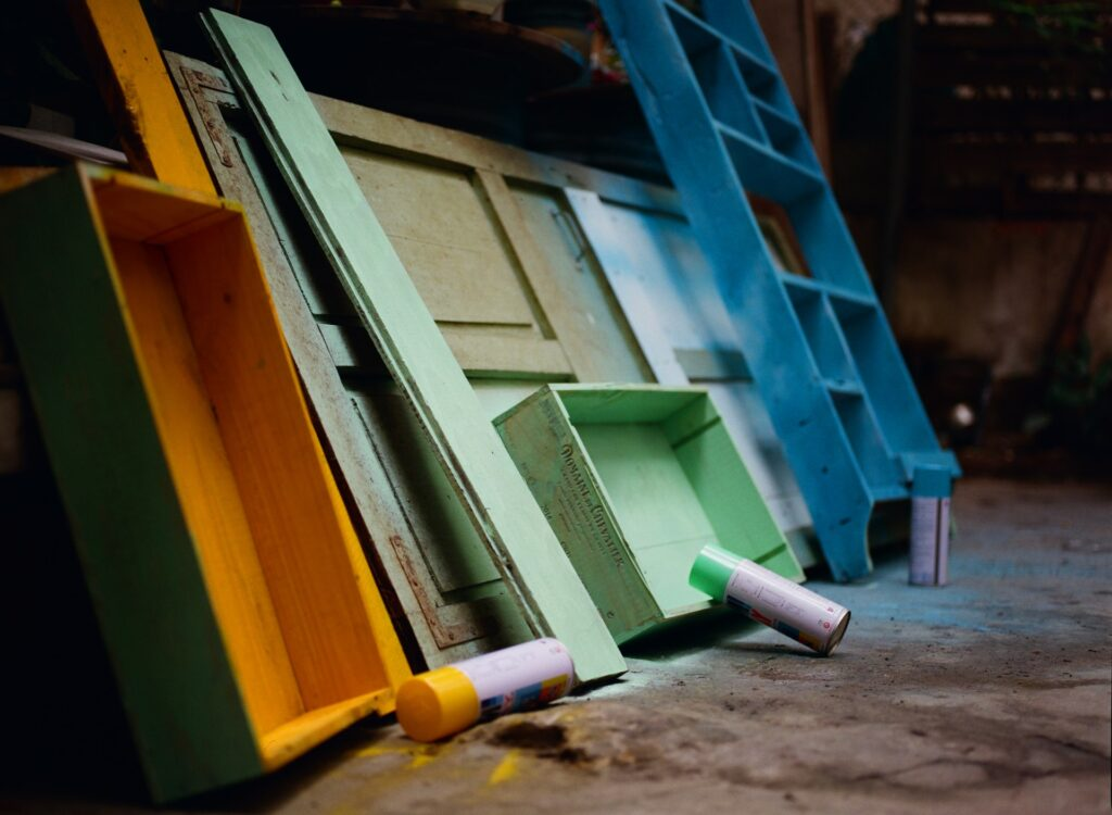 Use acoustic paint on furniture to dampen noise