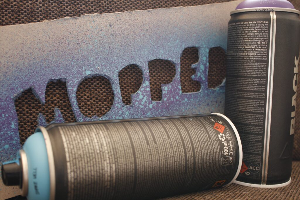 adhesive sprays for mounting acoustic foam come in aerosol cans