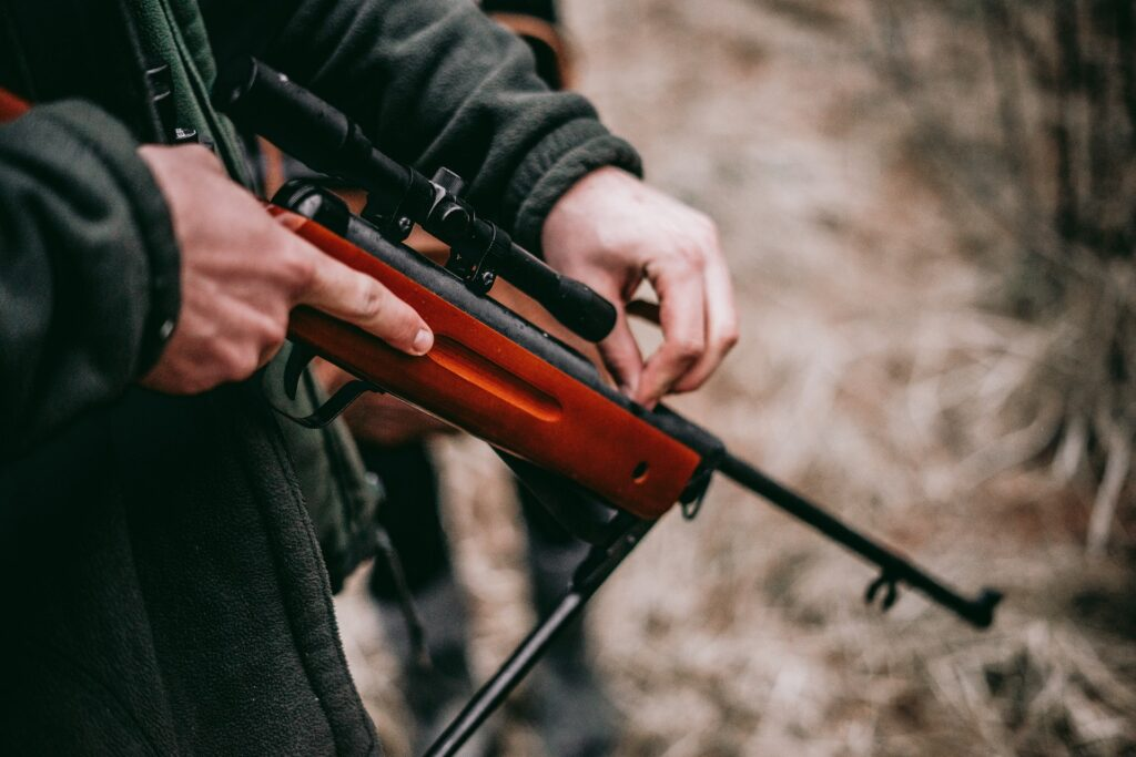 silent air rifle for pest control